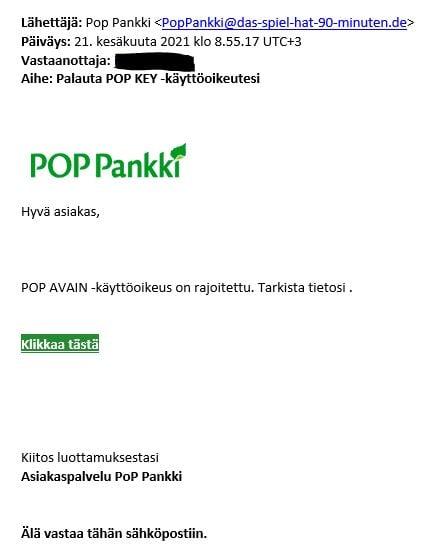 Huijausviesti_POP Avain