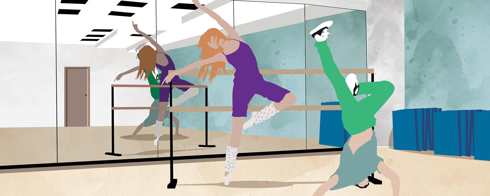 Tanssiharrastus, kuvituskuva.