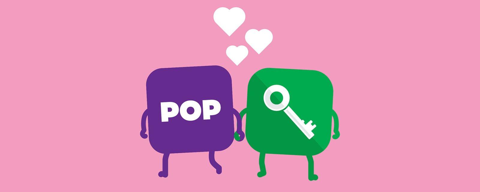 POP Mobiili ja POP Avain, kuvituskuva.