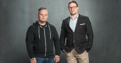 Asiakas Sami Söderlund ja asiakasvastaava Juha-Pekka Luukkainen, henkilökuva.