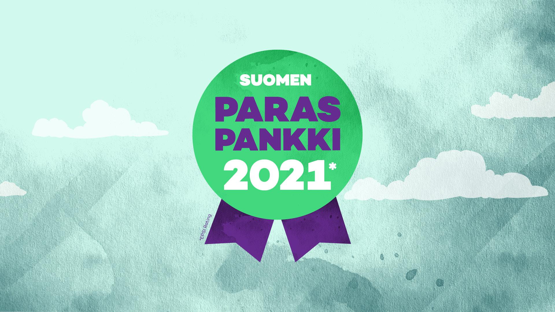 Suomen paras pankki 2021* Epsi Rating -tutkimus