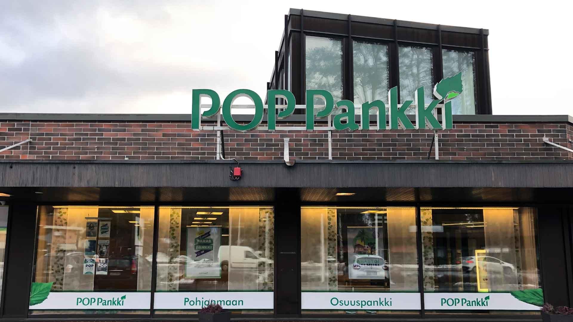 POP Pankki Pohjanmaan Alahärmän konttori.