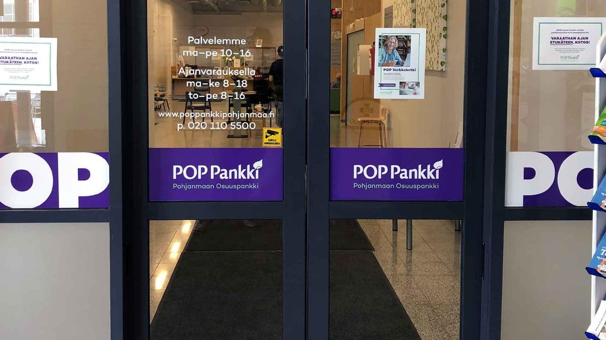 POP Pankki Pohjanmaan Kauhavan konttori.