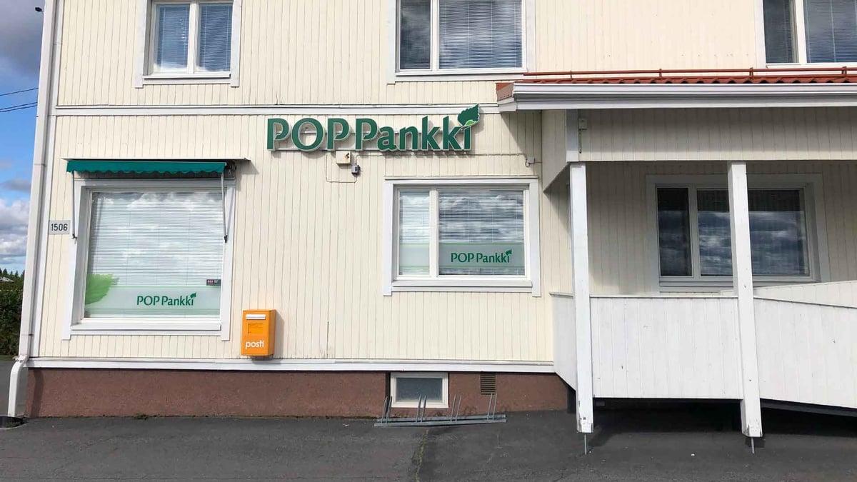POP Pankki Pohjanmaan Tiistenjoen konttori.