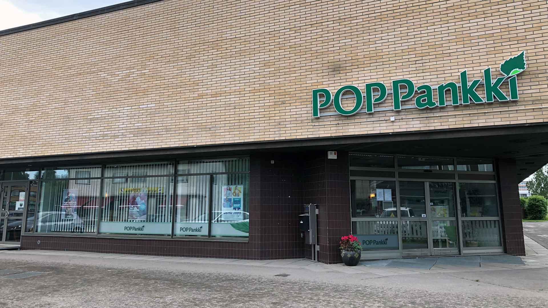 POP Pankki Pohjanmaan Ylivieskan konttori.