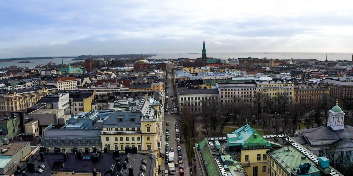ilmakuva Helsingin keskustasta