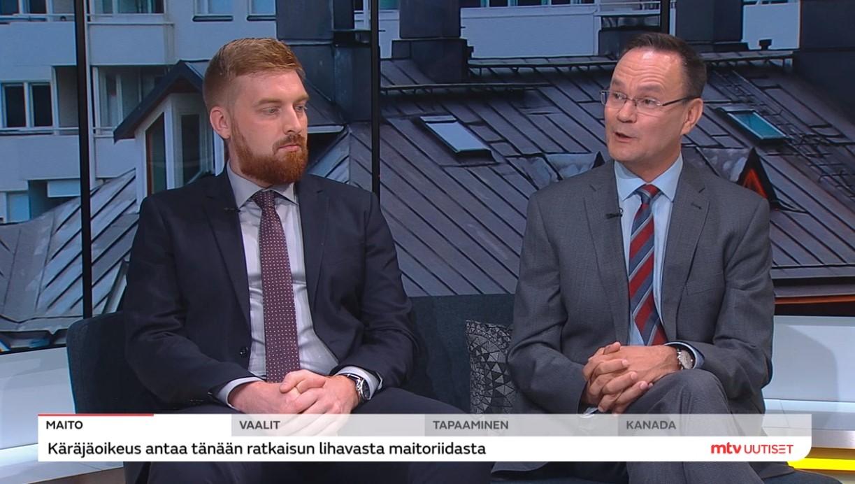 Timo Hulkko ja Lauri Vuori Huomenta Suomessa